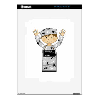 Cartoon Escaped Prisoner Skin For iPad 2