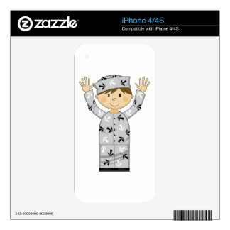Cartoon Escaped Prisoner Skin For The iPhone 4
