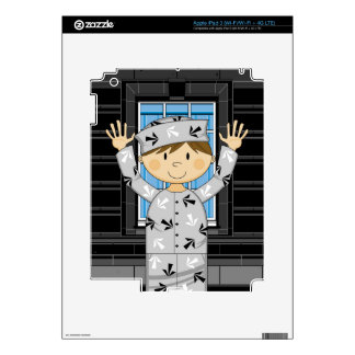 Cartoon Escaped Prisoner Skins For iPad 3