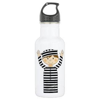 Cartoon Escaped Prisoner Stainless Steel Water Bottle
