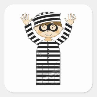 Cartoon Escaped Prisoner Sticker
