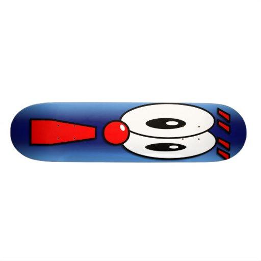 cartoon exclamation point board skateboard