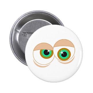 Cartoon eyes button