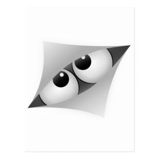 Cartoon eyes look by gap postcard