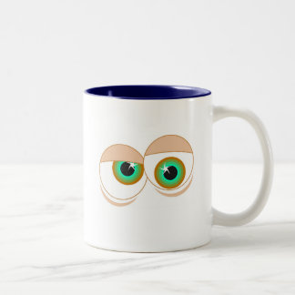 Cartoon eyes mug
