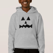 Cartoon Eyes Pumpkin Face Funny Fall Halloween Hoodie