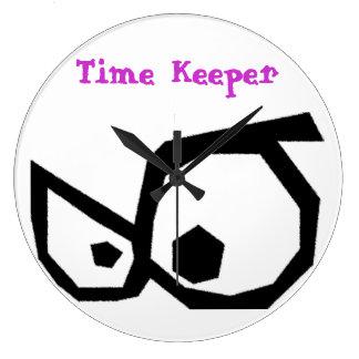Cartoon Eyes Time Keeper Wall Clock