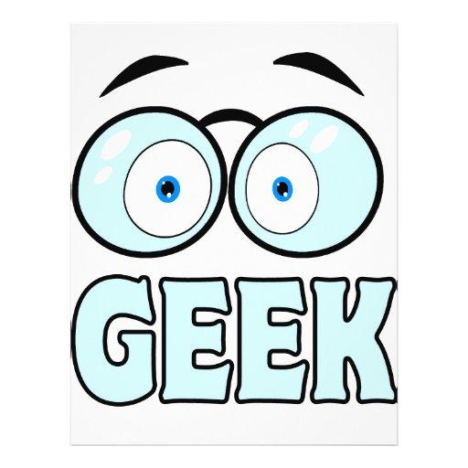 Cartoon Eyes With Glasses GEEK Flyer