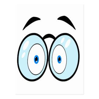 Cartoon Eyes With Glasses Postcard