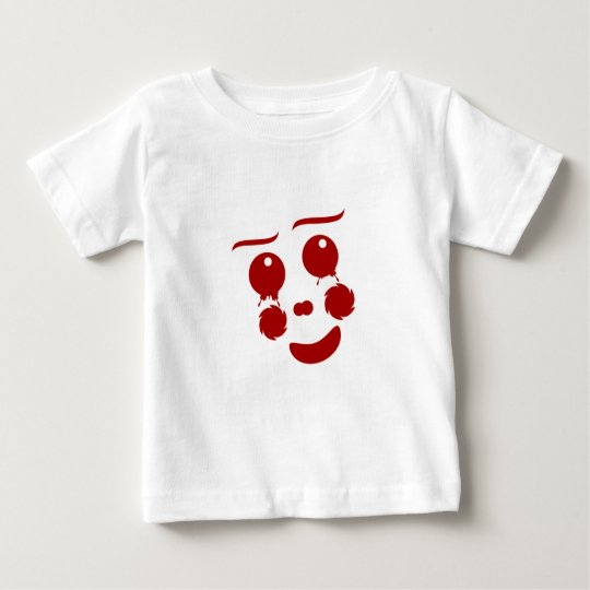 Cartoon Face, happy clown butterfly Baby T-Shirt