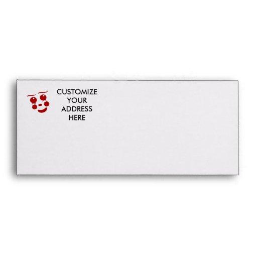 Cartoon Face, happy clown butterfly Envelope