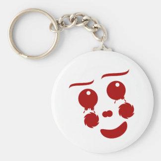 Cartoon Face, happy clown butterfly Key Chains