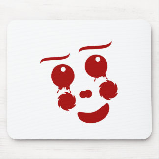 Cartoon Face, happy clown butterfly Mouse Pad