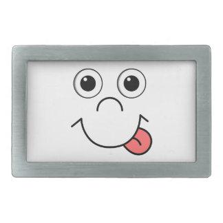 Cartoon face rectangular belt buckle