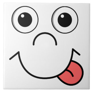 Cartoon face tile