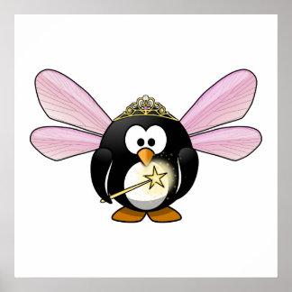 Cartoon Fairy Penguin Posters