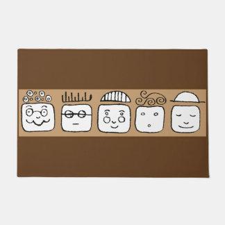 Cartoon family doormat