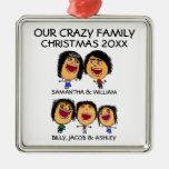 Cartoon Family of Five Ornament