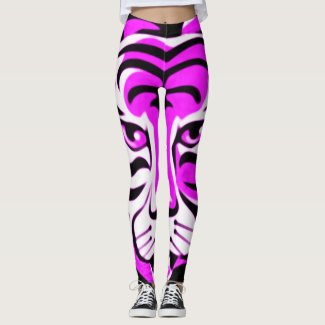 Cartoon Fantasy Purple tiger Animal Leggings
