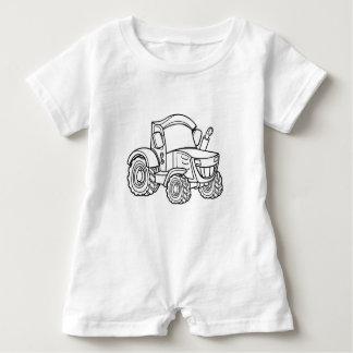 Cartoon Farm Tractor Baby Romper