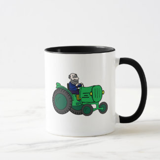 Cartoon Farmer and Tractor Mug