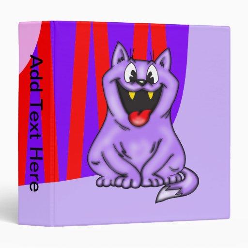Cartoon Fat Cat Avery Binder