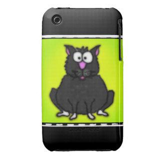 Cartoon Fat Cat Case-Mate iPhone 3 Case