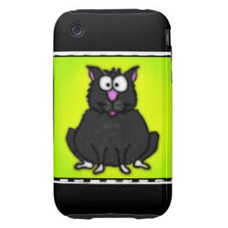 Cartoon Fat Cat Tough iPhone 3 Cover