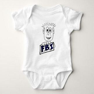 Cartoon FBI Agent Baby Bodysuit
