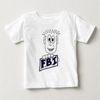 Cartoon FBI Agent Baby T-Shirt
