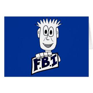 Cartoon FBI Agent Card