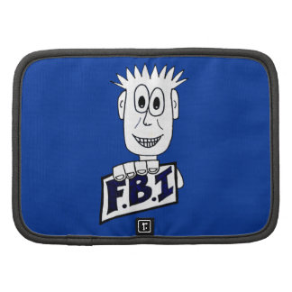 Cartoon FBI Agent Folio Planners