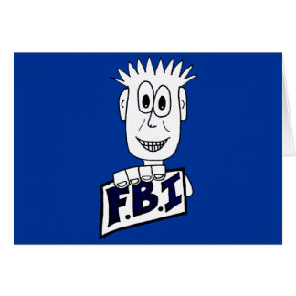 Cartoon FBI Agent Greeting Card