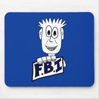 Cartoon FBI Agent Mouse Pad