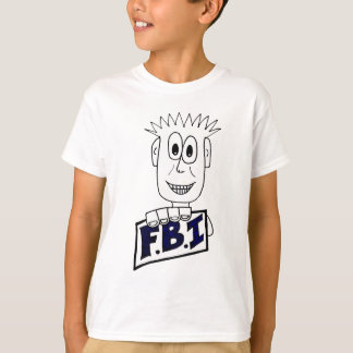 Cartoon FBI Agent T-Shirt