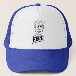 Cartoon FBI Agent Trucker Hat