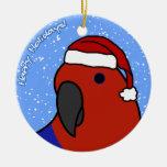 Cartoon Female Eclectus Christmas Ornament