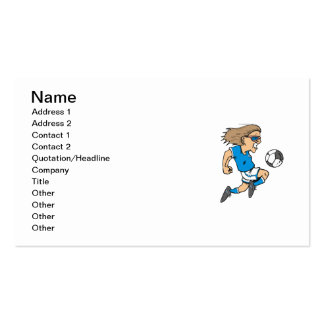 Cartoon Female Soccer  Star T-shirts and Gifts Business Cards