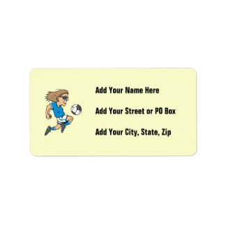 Cartoon Female Soccer  Star T-shirts and Gifts Label