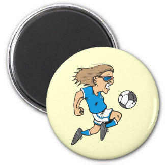 Cartoon Female Soccer  Star T-shirts and Gifts Magnet