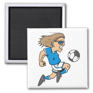 Cartoon Female Soccer  Star T-shirts and Gifts Refrigerator Magnets