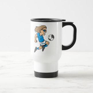 Cartoon Female Soccer  Star T-shirts and Gifts Travel Mug
