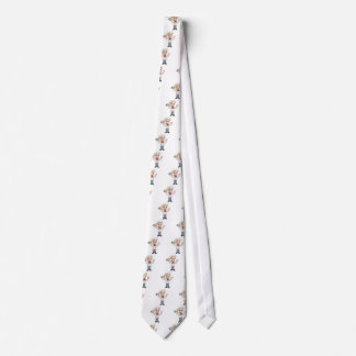 Cartoon Female Woman Baker or Pastry Chef Neck Tie