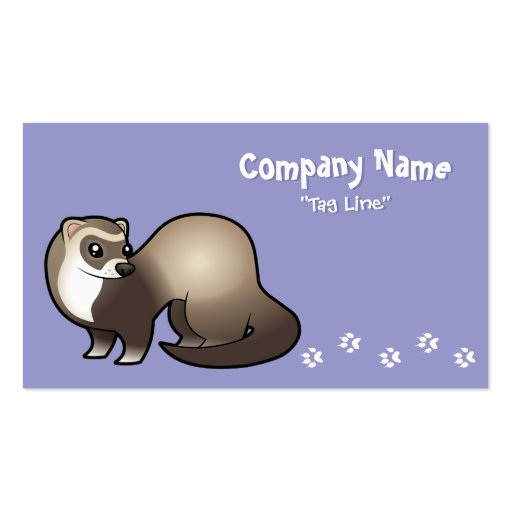 Cartoon Ferret Double-Sided Standard Business Cards (Pack Of 100)