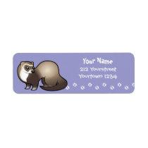 Cartoon Ferret Label