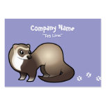 Cartoon Ferret Large Business Cards (Pack Of 100)