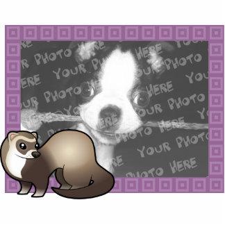 Cartoon Ferret Photo Frame Photo Sculpture