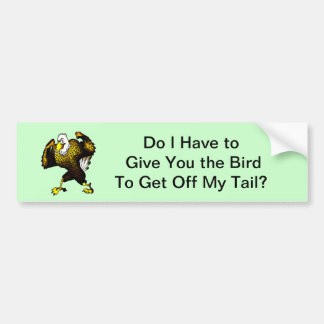 Cartoon Fighting Eagle Bumper Sticker