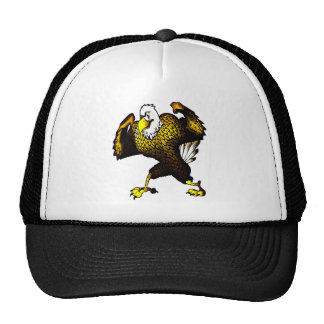 Cartoon Fighting Eagle Trucker Hat