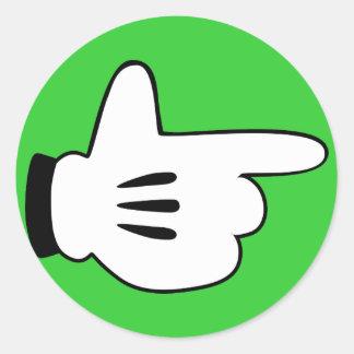 cartoon finger gun stickers